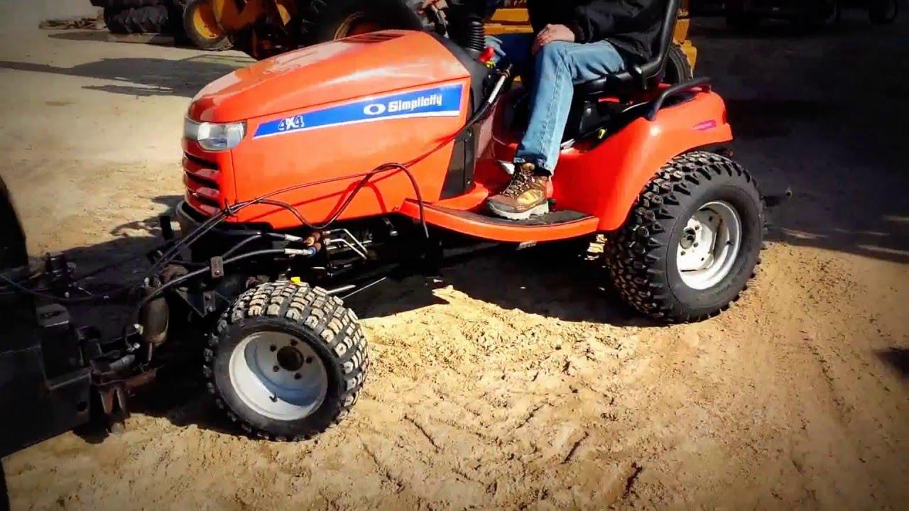 Simplicity 4wd Garden Tractor Garden Ftempo