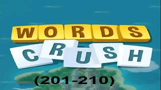 WORDS CRUSH LEVEL (201-210) screenshot 2