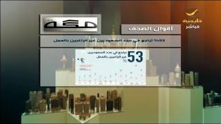 صحيفة مكة : %53 تراجع في عدد السعوديين غير الراغبين بالعمل