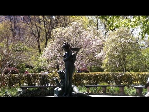 "Conservatory Garden - The ""Hidden"" Flower Garden Of Central Park In New York City"