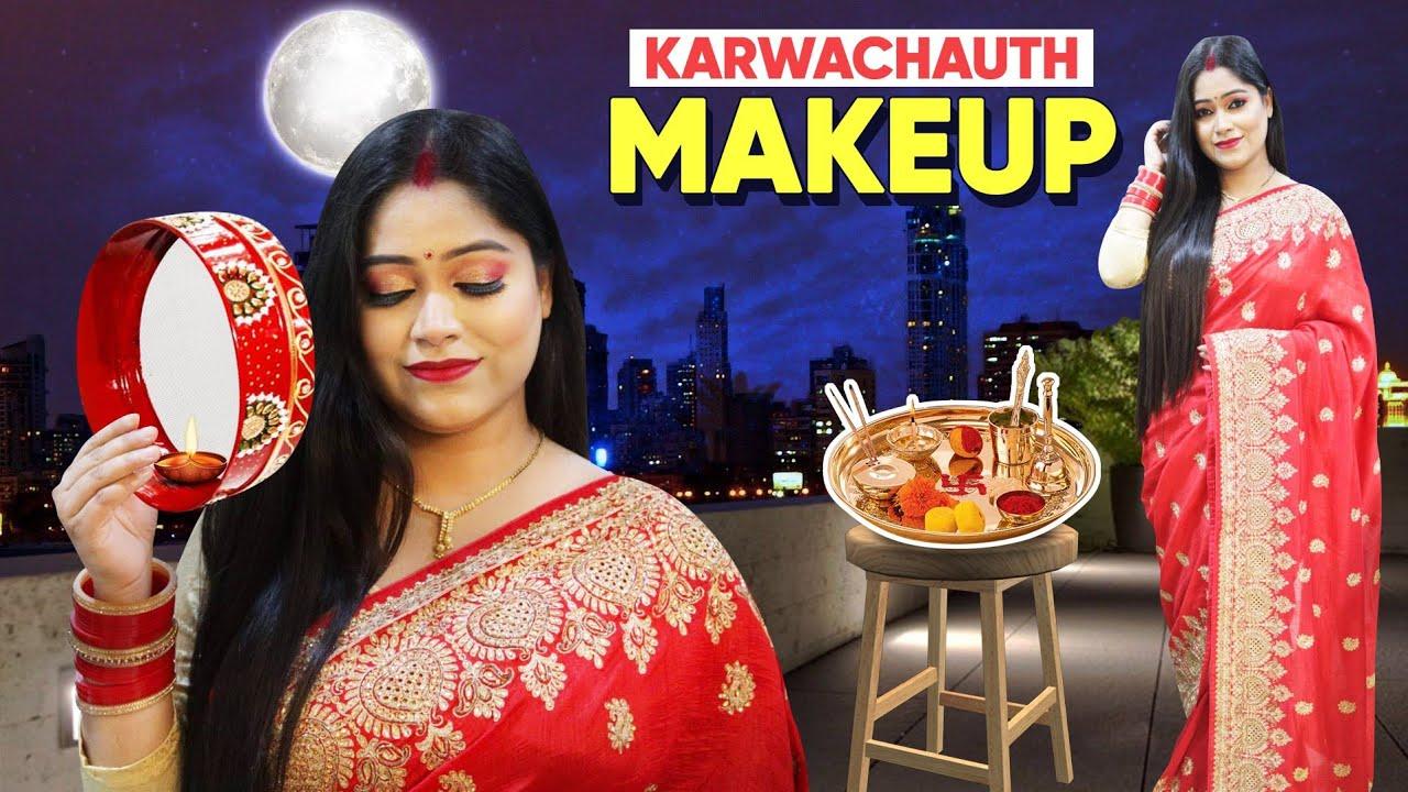 Easy Step by step Karwachauth & Diwali Makeup for beginners & New Bridesआपके वो आप पर लटू हो जाएंगे