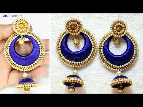 DIY Chandbali Jhumka Tutorial ||Silk Thread Chandbali Jhumka By MISS. ARTOFY