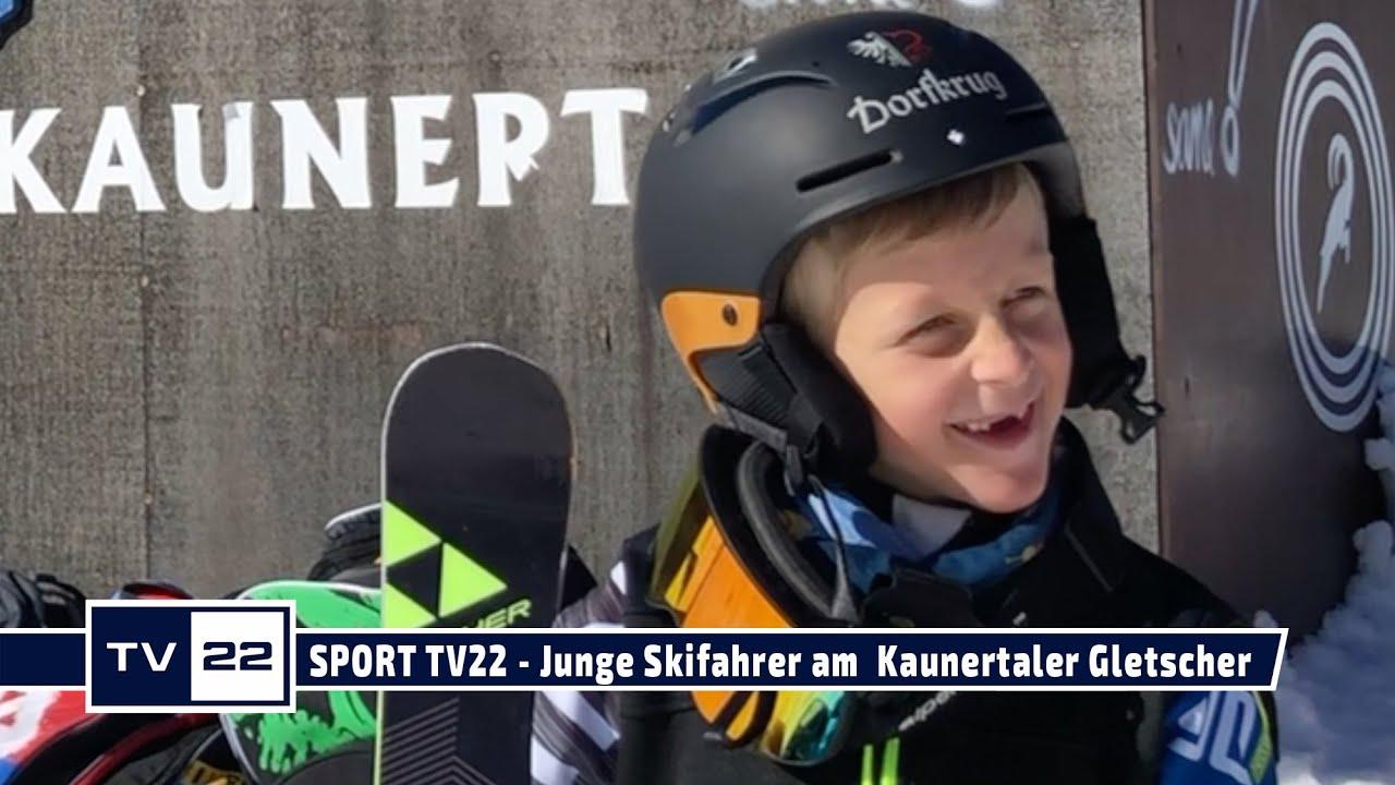 SPORT TV22: Der junge Skifahrer Alois Trenkwalder trainiert am  Kaunertaler Gletscher