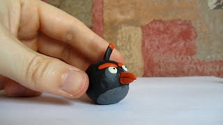 How To Make Clay Angry Birds - Bomb Bird