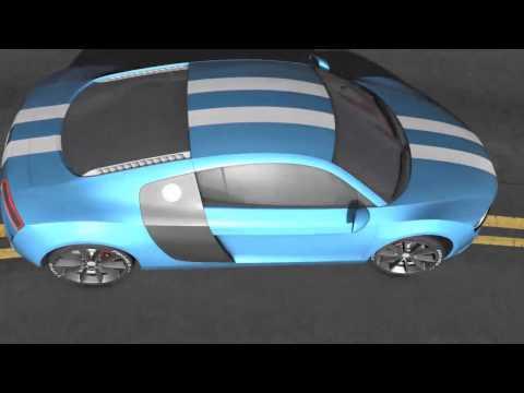 Audi R8 Car Animation 3D Diplomarbeit von Martin Haefeli 3D Diplomarbeit