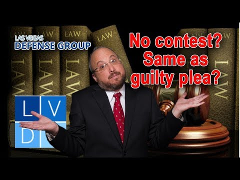 """""""No contest"""" pleas in Nevada – Is this the same as a """"guilty"""" plea?"""
