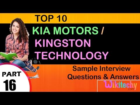 Jobs   Kia Motors   Kingston Technology   Kia Motors In India   Kingston Technology Corporation