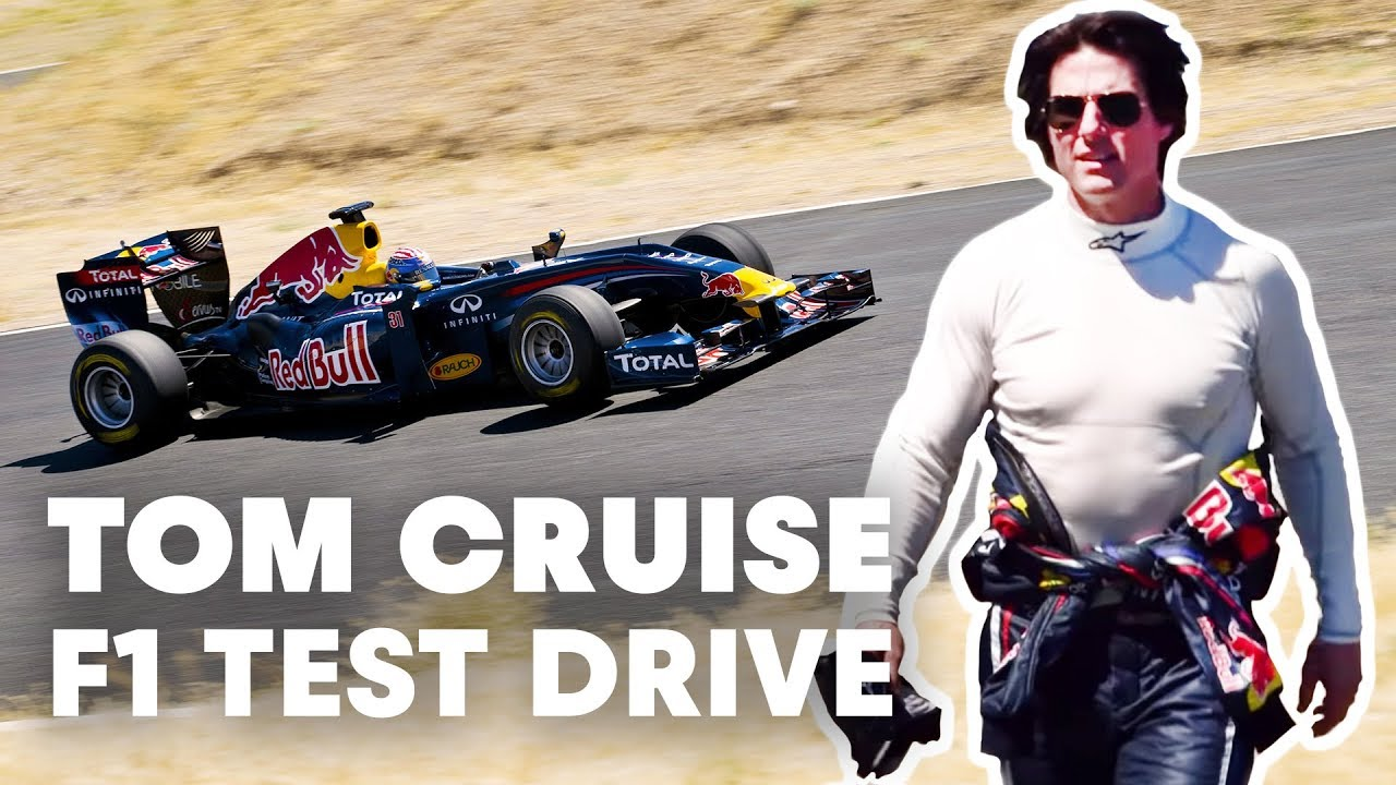 Tom Cruise test drives Red Bull Racing F1 car