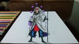 Desenhando o Madara Rikudou Sennin em 3D (How to draw Madara Rikudou Sennin in 3D)