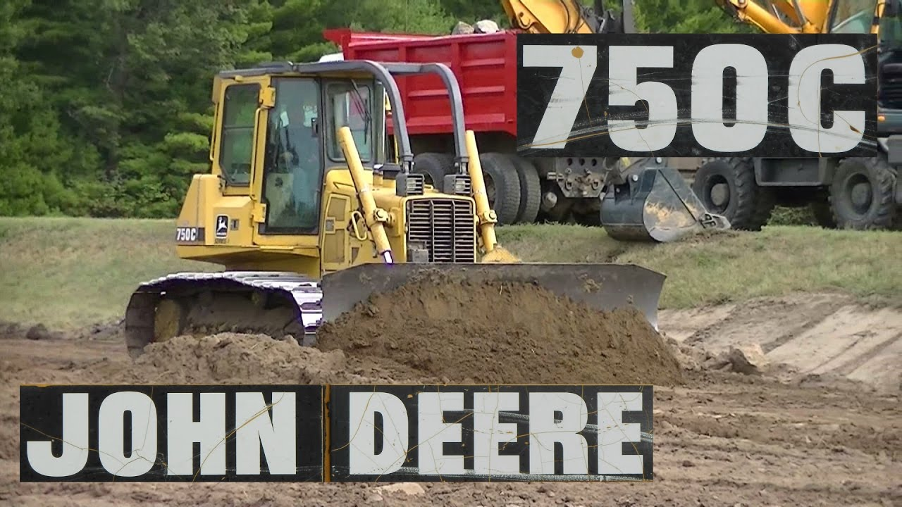 John Deere 750C LGP Dozer Pushing Dirt  YouTube