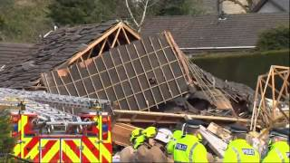 House Explosion Puts Pensioners In Hospital (Raw Video)