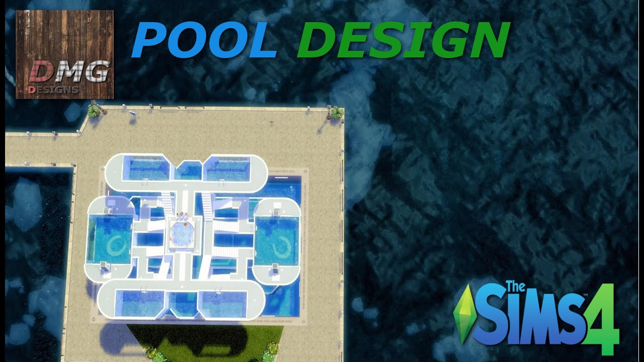 The sims 4 crazy swimming pool design youtube for Pool designs sims 4