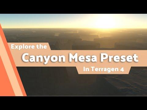 Terragen 4 Preset Tours: Canyon Mesa Preset