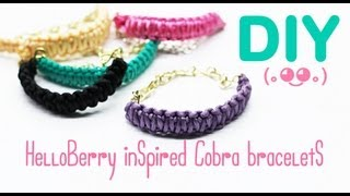 Diy Helloberry Inspired (cobra Braid Bracelets)