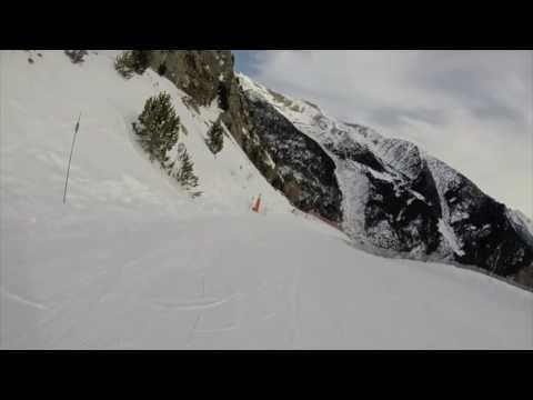 Skiing Arinsal, Andorra Top To Bottom 21st Jan 2017