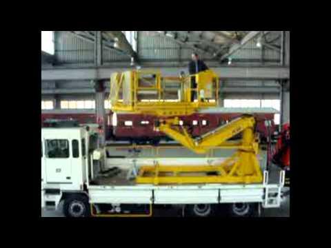 HMA Materials Handling   Hi Rail Boom Lift