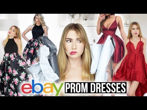 TRYING ON EBAY PROM DRESSES!! *Success & Fails*