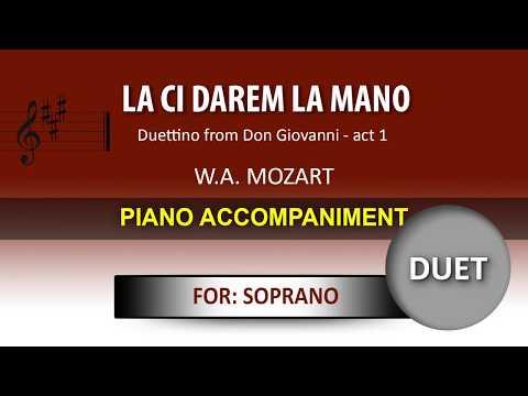 La ci darem la mano / Karaoke piano / Wolfgang Amadeus Mozart / For SOPRANO