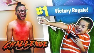 IF MY LITTLE BROTHER WINS FORTNITE, I WAX MY ENTIRE BODY HAIR!! *MOST PAINFUL FEELING IN THE WORLD*
