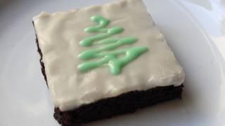 Chocolate Mint Brownies - Christmas Brownie Recipe