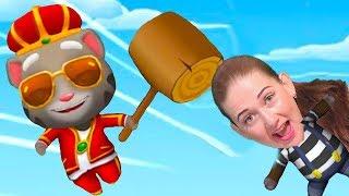 Веселый забег соревнование в супер игре говорящий кот Том бег за золотом от Каталекс!