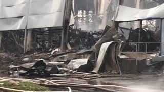 После пожара в Ленте
