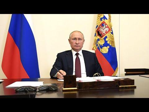 Путин бросил ручку на совещании по лесным пожарам