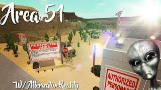 Building Area 51 on BLOXBURG (Roblox)