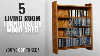 Top 10 Wood Shed Living Room Furniture [2018]: The Wood Shed 402 C Solid Oak CD Cabinet, Clear