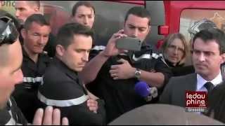 Un pompier refuse de serrer la main à Manuel Valls