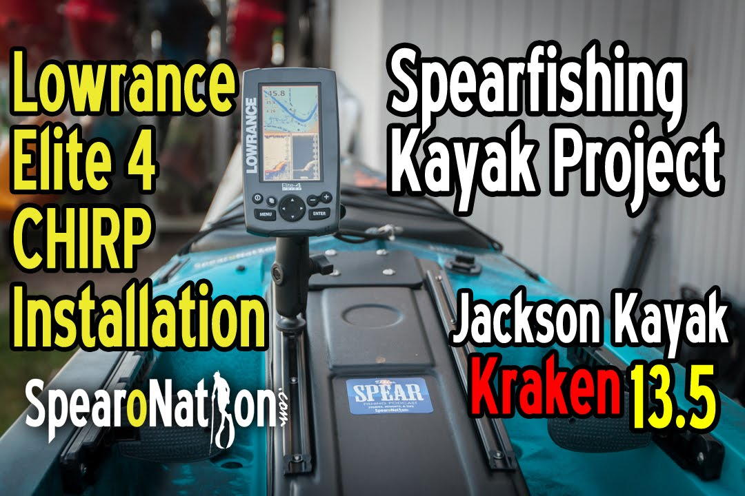how to lowrance elite 4 chirp installation fishing kayak setup