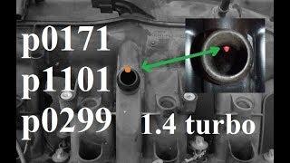 Awaria odmy p0299, p0171, p1101 - 1.4 turbo, Astra, Zafira, - a14net, a14nel,