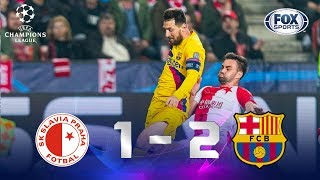 Slavia Praga - FC Barcelona [1-2] | GOLES | Grupo F | UEFA Champions League