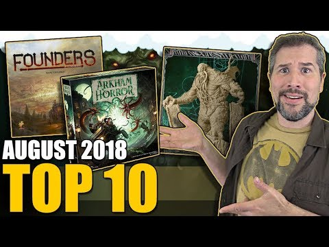 Top 10 popular board games: August 2018