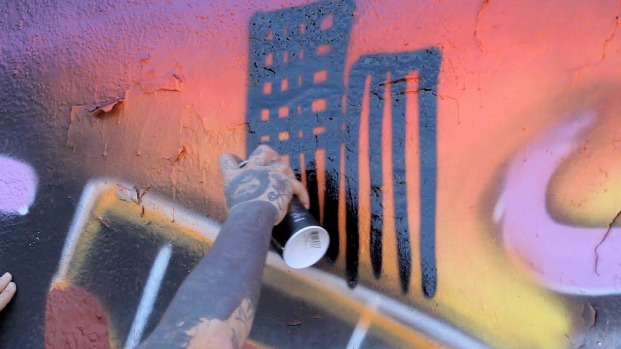 How to do a background graffiti art
