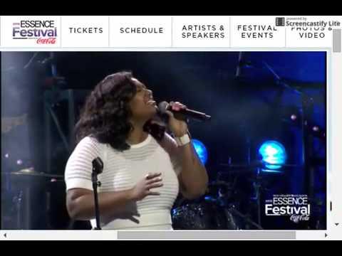 Jazmine Sullivan Tribute To Kim Burrell Essence Festival 2015