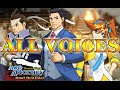 Ace Attorney Dual Destinies: All Voices
