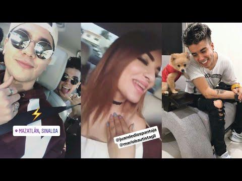 Juan De Dios Pantoja y Kimberly Loaiza con Mario Bautista en Sinaloa   Instagram Stories (Enero, 12)