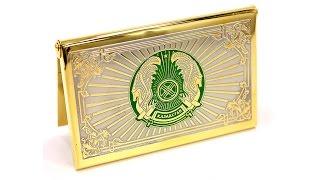 Визитница карманная с символикой Казахстана. Обзор товар