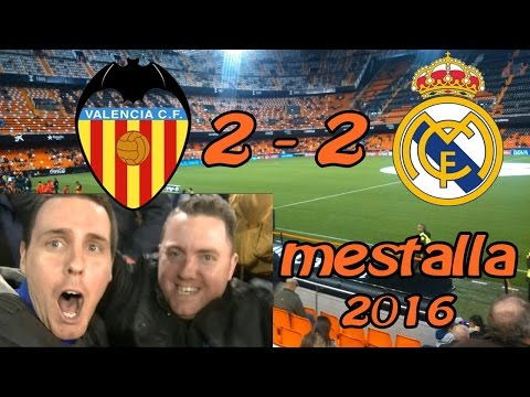VIDEOVLOG - VALENCIA CF 2-2 REAL MADRID EN MESTALLA IMPRESIONANTE 2016 - GOLES JUGADAS... HD Español