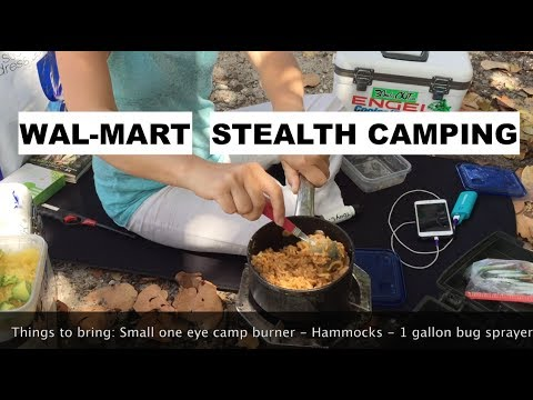How To Camp In Your Car At Walmart- Miami &  Mexico Beach Florida