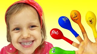 Nastya plays with Balloons | Daddy Finger Nursery Rhymes | 동요와 아이 노래 | 어린이 교육