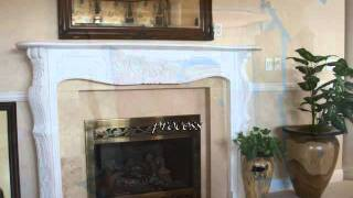 Faux Marbleized Mantle And Columns By Artist Lisa Bryant: Lisa Bryant Faux Finishes