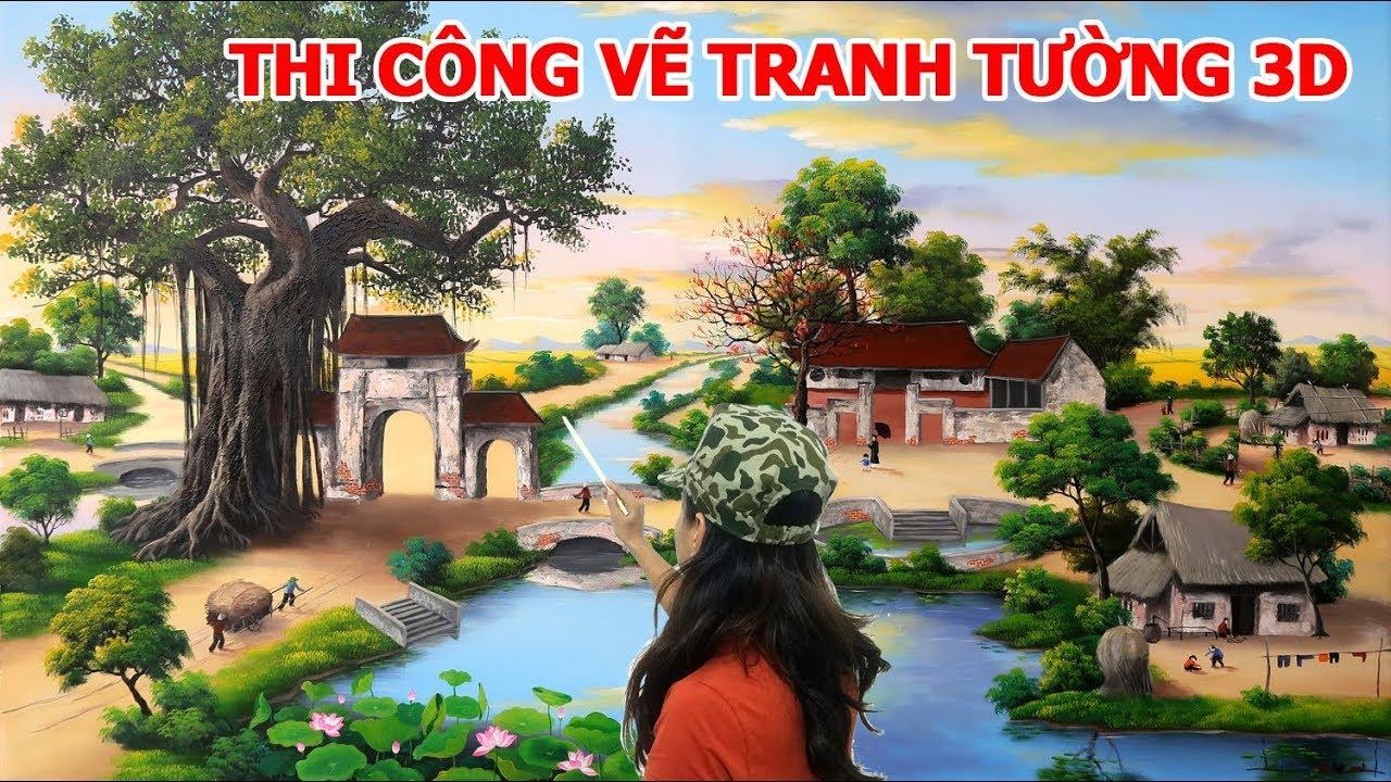 Nhận dạy vẽ tranh và thi công vẽ tranh tường 3d, Thi công và dạy vẽ tại Hà Nội