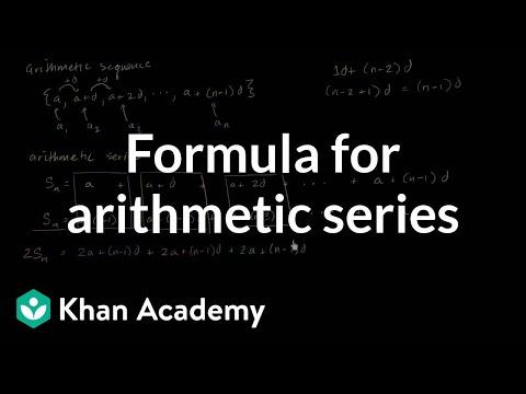 Formula for arithmetic series