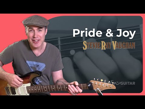 How to play Pride And Joy by Stevie Ray Vaughan - Guitar Lesson Tutorial Texas Blues Riff Shuffle