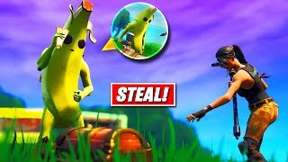STEALING People Loot In Fortnite Avengers Endgame (Funny Reactions)