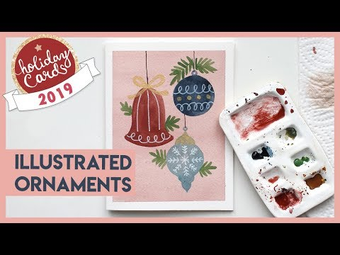 How To Paint Christmas Ornaments (2019 Watercolor Holiday Card Series)