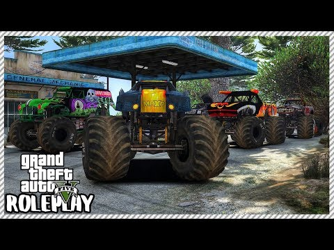 GTA 5 Roleplay - Monster Jam Truck Offroading Ride Out | RedlineRP #394