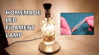 Homemade LED Filament Bottle Lamp